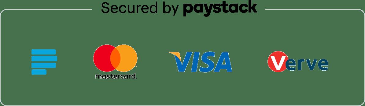 Paystack secured badge